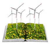 Open ecological book stock image