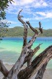 Open een strand met mooie achtergrond het programma Stock Foto's