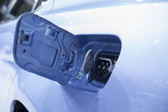 Open electric car socket Royalty Free Stock Photography
