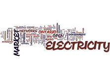 The Open Electricity Market How It Affects You Text Background  Word Cloud Concept Royalty Free Stock Photo