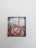 Open elektrodoos met bedrading Royalty-vrije Stock Afbeeldingen