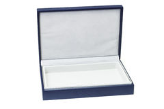 Open empty blue gift box Stock Image