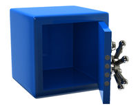 Open empty blue security safe Royalty Free Stock Images
