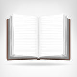 Open empty book isolated object Stock Photography