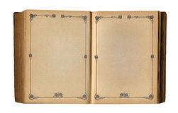 Free Open Empty Book With Antique Floral Page Frame Stock Photography - 23863722