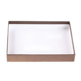Open empty brown box Royalty Free Stock Photo
