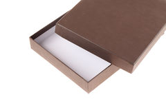 Open empty brown box Stock Photography