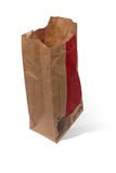 Open empty brown paper bag Royalty Free Stock Photos