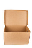 Open empty cardboard box Stock Image