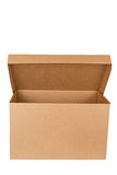 Open Empty Cardboard Box Stock Photo