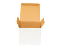 Open an empty cardboard box Stock Images