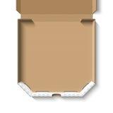 Open empty cardboard pizza box Stock Photography