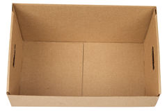 Open empty carton box Royalty Free Stock Image
