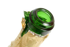 Open empty champagne bottle Royalty Free Stock Images