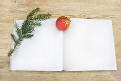Open an empty Christmas book Royalty Free Stock Image
