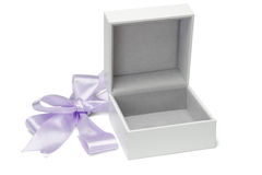 Open empty gift box Royalty Free Stock Image