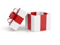 Open Empty Gift Box On White Royalty Free Stock Photos