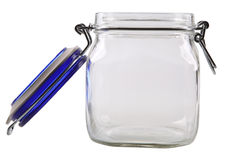 Open empty glass jar Royalty Free Stock Images