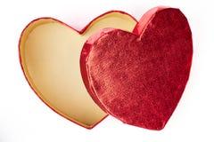 Open empty heart-shaped gift box. Stock Image