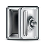 Open empty metal safe  on white. Background Royalty Free Stock Image