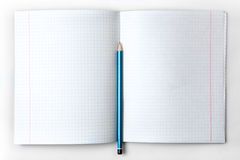 Open empty notebook with lined pages Stock Photos
