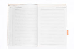 Open empty notebook. On white background Royalty Free Stock Photos