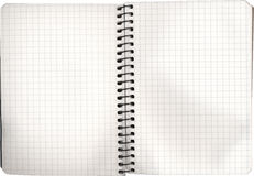 Open empty notebook Stock Image