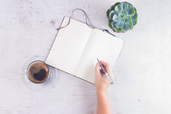 Open empty notebook Royalty Free Stock Photos