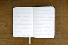 Open empty notebook Royalty Free Stock Images
