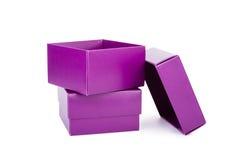 Purple boxes Royalty Free Stock Photo