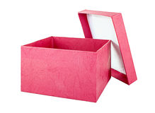 Open and empty red gift box Royalty Free Stock Photos