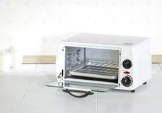 Open empty roaster oven stock photo
