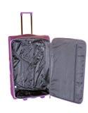 Open empty roll-aboard suitcase Stock Photo