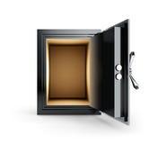 Open Empty Safe Box Stock Image