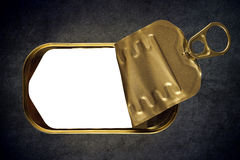 Open Empty Sardine Fish Tin Can Stock Images