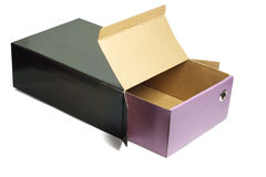 Open empty shoe box Royalty Free Stock Photography