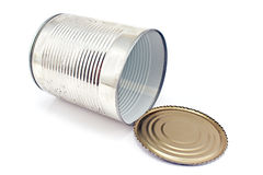 Open empty tin can Royalty Free Stock Photo