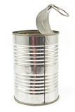 Open empty tin can Stock Photo