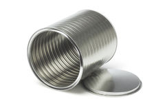 Open Empty Tin Can Stock Images