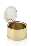Open an empty tin can  Stock Images