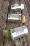 Open empty tin can Stock Photos