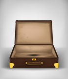 Open empty travel suitcase transport concept vector Stock Image
