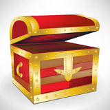 Open empty treasure chest Royalty Free Stock Photos