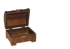 Open and empty treasure chest Royalty Free Stock Photo