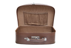 Open empty vintage suitcase Royalty Free Stock Photo