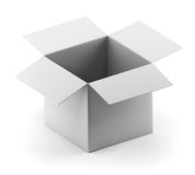 Open empty white box Stock Images
