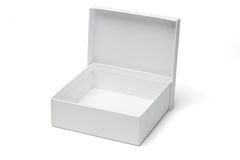Open empty white gift box Stock Image