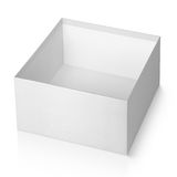 Open empty white square box isolated on white Royalty Free Stock Images