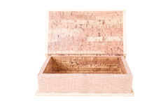 Open empty wood box Stock Photography