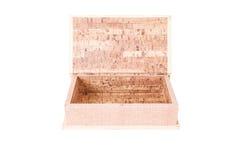 Open empty wood box Stock Photography